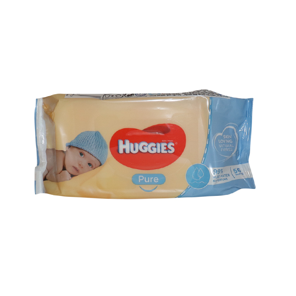 HUGGIES BABY WIPES PURE 1*56  SHEETS