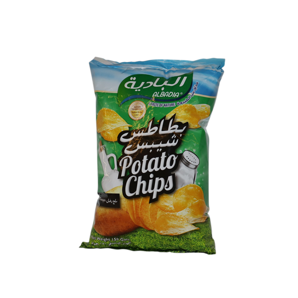 AL BADIA POTATO CHIPS SALT&VINEGAR 150g