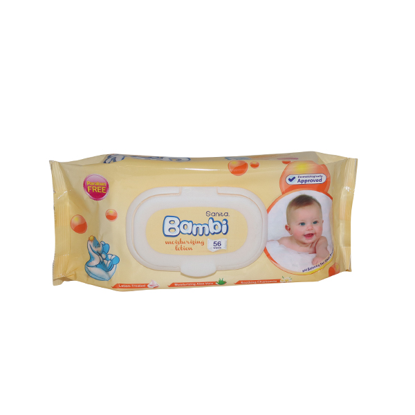 BAMBI WET WIPES  LOTION 1*64 S SHEETS