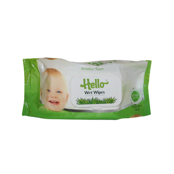 HELLO ROSE /HERBAL WET WIPES 1*100  SHEETS