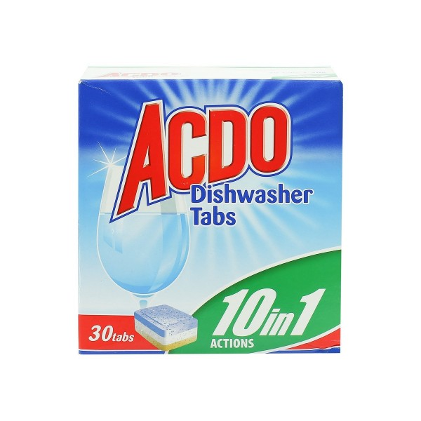 ACDO DISHWASHER TABS 10 in 1 ACTIONS 30pcs