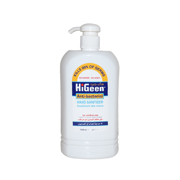 HIGEEN ANTI BACTERIAL HAND SANITIZER 1l