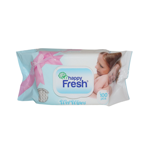 HAPPY FRESH BABY WET WIPES SENSITIVE 1*100 SHEETS