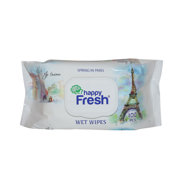 HAPPY FRESH WET WIPES SPRING IN PARIS 1*100 SHEETS