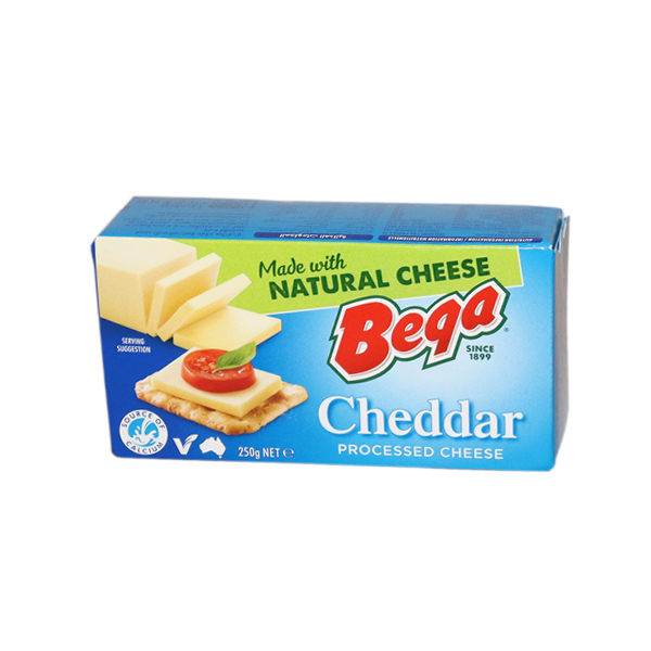 BEGA PROCESSED CHEESE BLOCK 250g