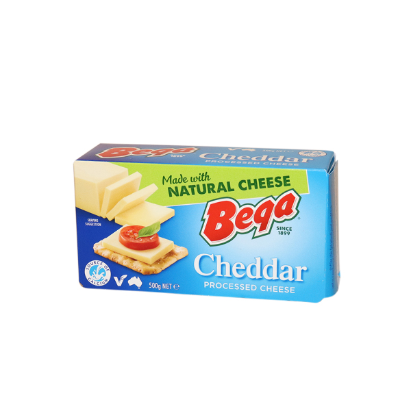 BEGA PROCESSED CHEDDAR CHEESE BLOCK 500g