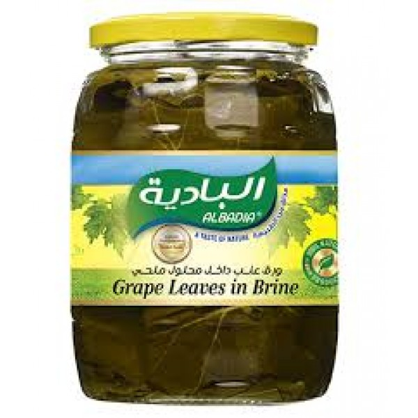 AL BADIA GRAPE LEAVES IN BRINE JAR 970g