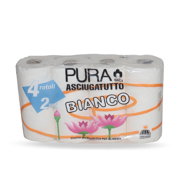 KITCHEN ROLL PURA GIANT 4 ROLL